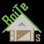 logo boite a bois, eco-constructeur de maison en bois et sur pilotis